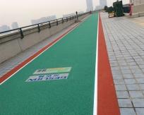 济南市历下区体育局龙奥大厦楼顶步道建设